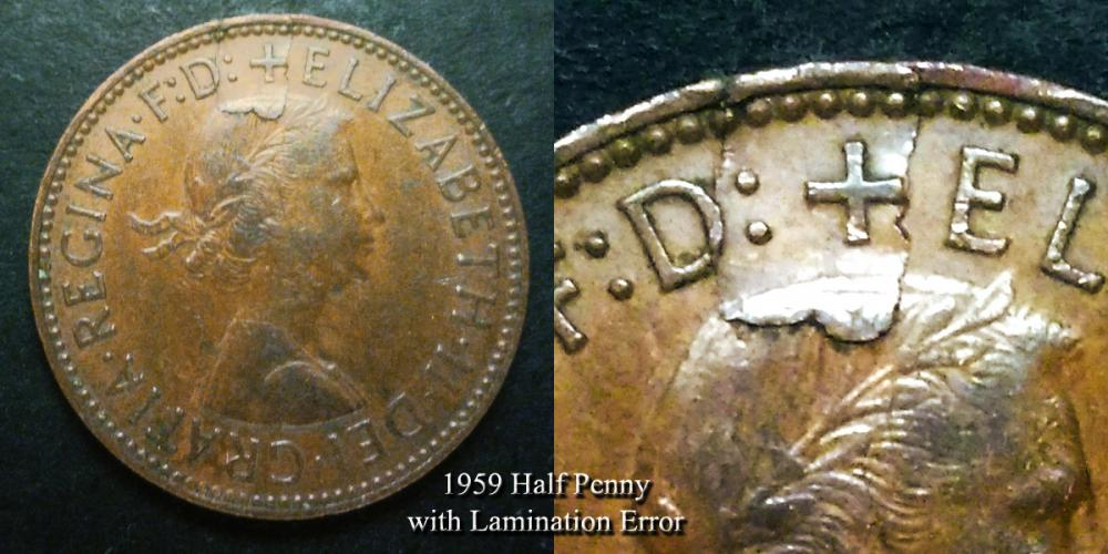 1959 Half penny with lamination error 1.jpg