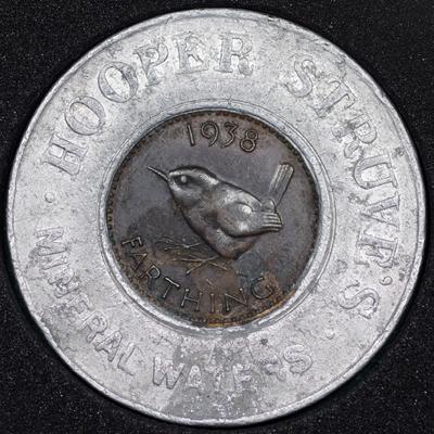 1938 George VI Encased Farthing Hooper Struves Rev.jpg