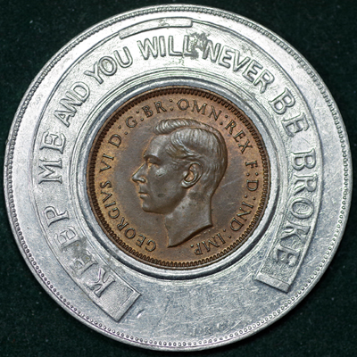 1939 George VI Encased Farthing Hooper Struves Obv 2.jpg