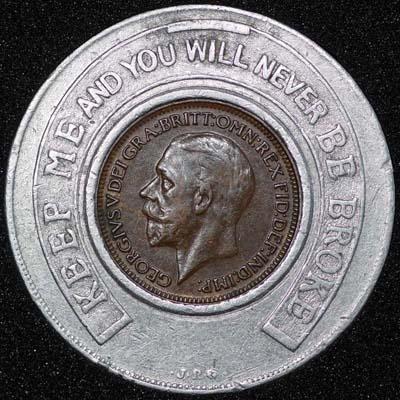 1928 George V Encased Farthing Hooper Struves Obv 400.jpg