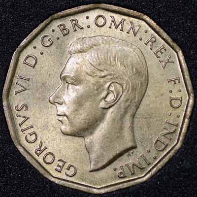1948 George VI Threepence Obv 400.jpg