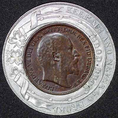 1902 Edward VII Encased Farthing Mc Millan Obv 400.jpg