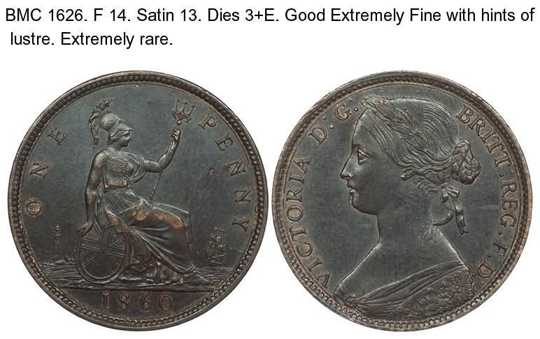 1860 F 14. Satin 13. Dies 3+E Res £800_Sold £900.jpg