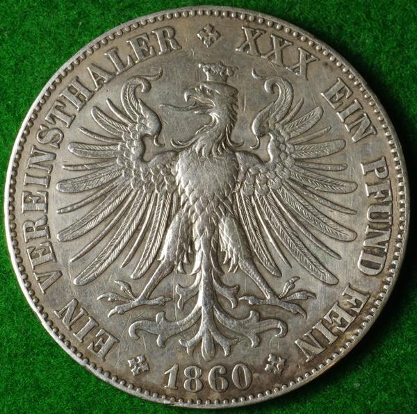 Frankfurt Thaler 1860 1 Red.JPG