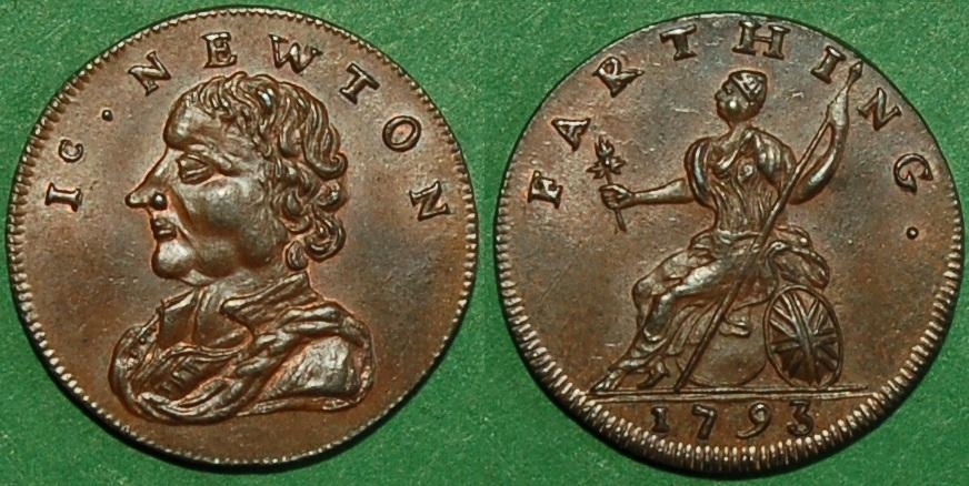 c1930 1793 token Kempson Isaac Newton farthing.JPG