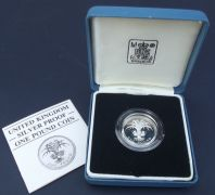 One Pound 1985 Silver Proof