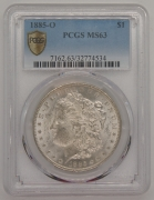 1885O US Dollar PCGS MS63