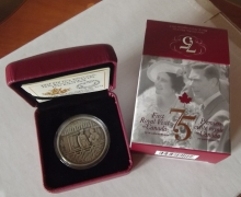Canada Royal Visit 75th Anniversary Silver Oz $20