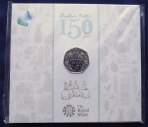 50p Fifty Pence 2016 Beatrix Potter pack