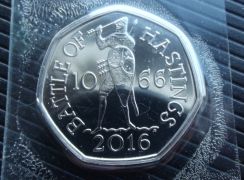 50p Fifty Pence 2016 Hastings BU
