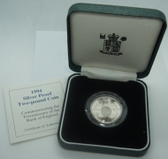 Two Pounds 1994 B of E Silver Proof