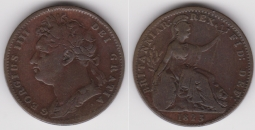 Farthing 1823 F. I for 1