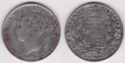 Half Crown 1877 Fine, rough