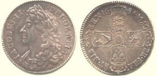 James II Halfcrown coin