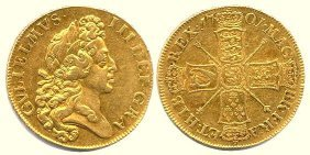 William III five guineas coin