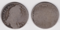 Shilling 1696 Poor