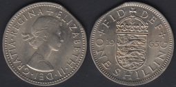 Shilling 1965E Clipped