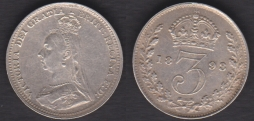 Threepence 1893 NF/AF